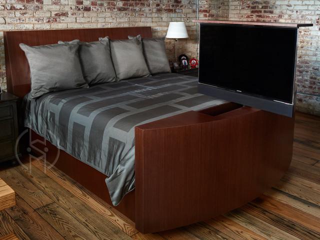 Hidden Tv Bed Modern Bedroom