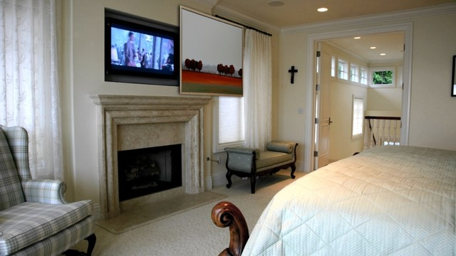 Hidden Tv In Master Bedroom Traditional Bedroom San