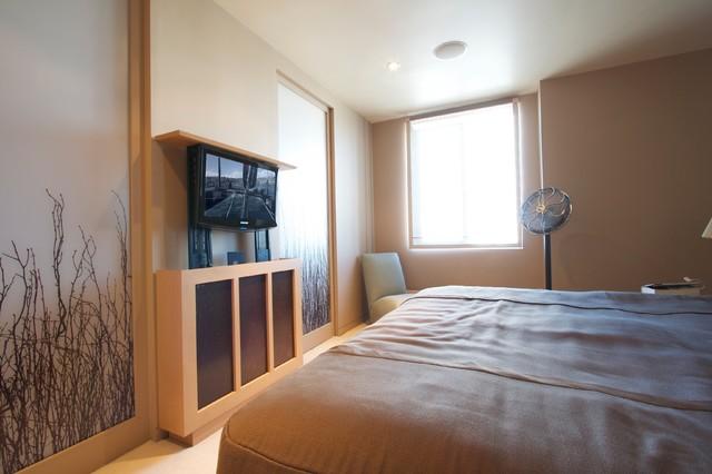 Hidden Tv Inside Custom Lift Cabinet Asian Bedroom San Francisco By High Definition Home