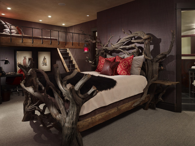 Yellowstone Residence Bedroom rustic-bedroom