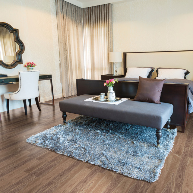 High Definition Cork Flooring Contemporary Bedroom