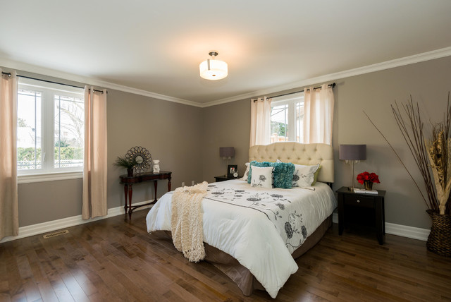High end home staging in ottawa by capital home staging design transitional bedroom for Capital home staging and design