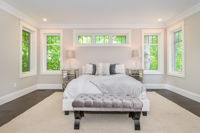 Transitional bedroom photo in Toronto