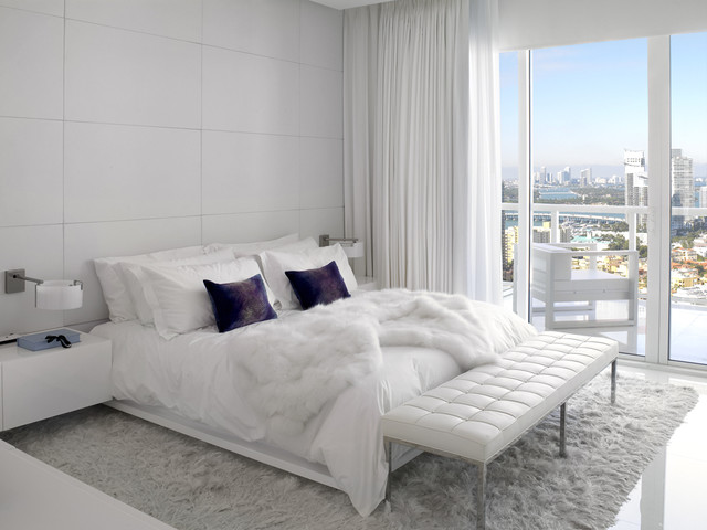 White Master Bedroom Contemporary Bedroom Other Metro By Millennium Cabinetry