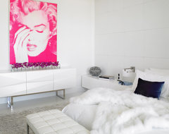 White and Pink Bedroom contemporary-bedroom