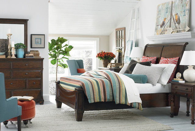 Highlands Sleigh Bed by Bassett Furniture - Contemporary - Bedroom ...