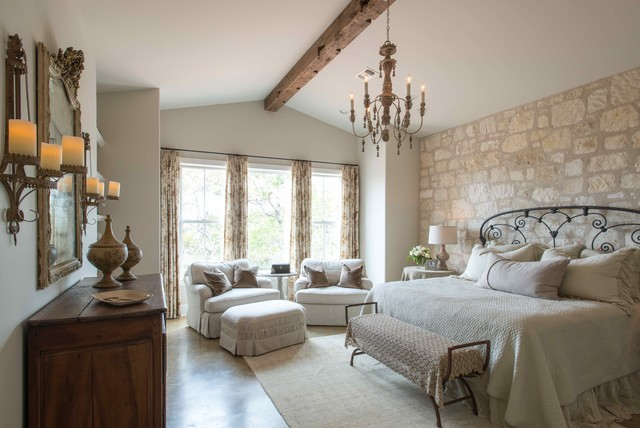 Hill Country French Country - Farmhouse - Bedroom ...