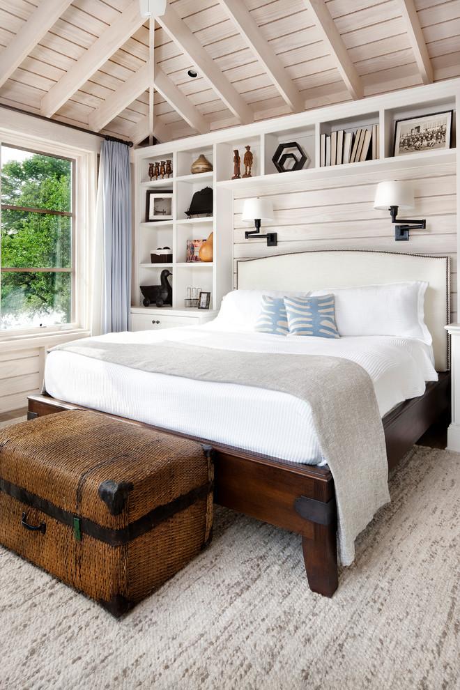 Inspiration for a mediterranean guest bedroom remodel in Austin