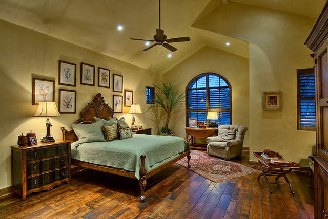 hill country ranch master bedroom traditional bedroom