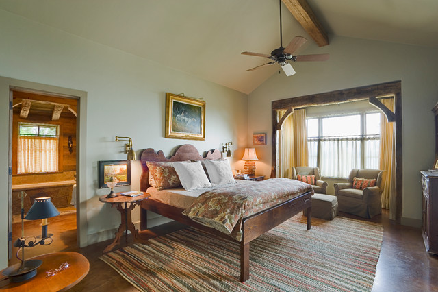 Hill Country Retreat rustic-bedroom