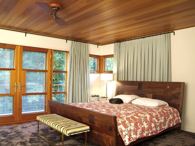 Hill Section Home rustic-bedroom