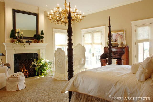 Hilltop Plantation Home traditional-bedroom