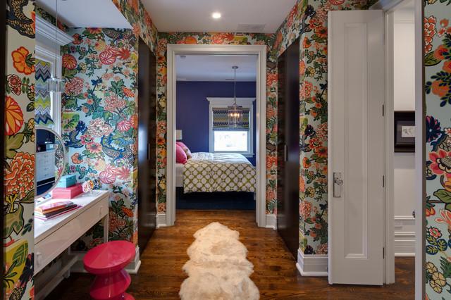 Pink Fur Wallpaper For Bedrooms: Hinsdale Greek Revival