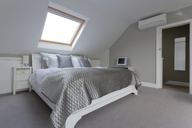 Hip to gable dormer creating a large new bedroom and for Dormer bedroom ideas
