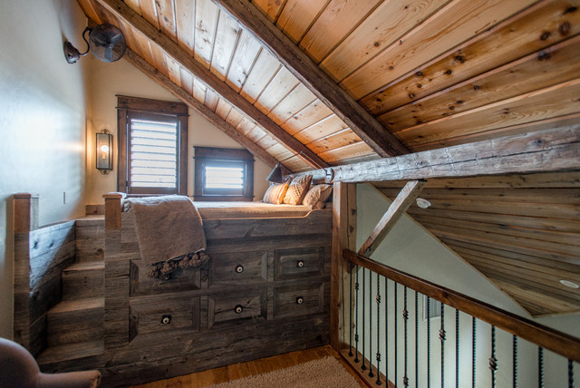 Historic Barn Re-imagined rustic-bedroom