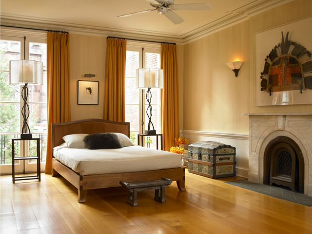 Historic Brooklyn Townhouse Transitional Bedroom New