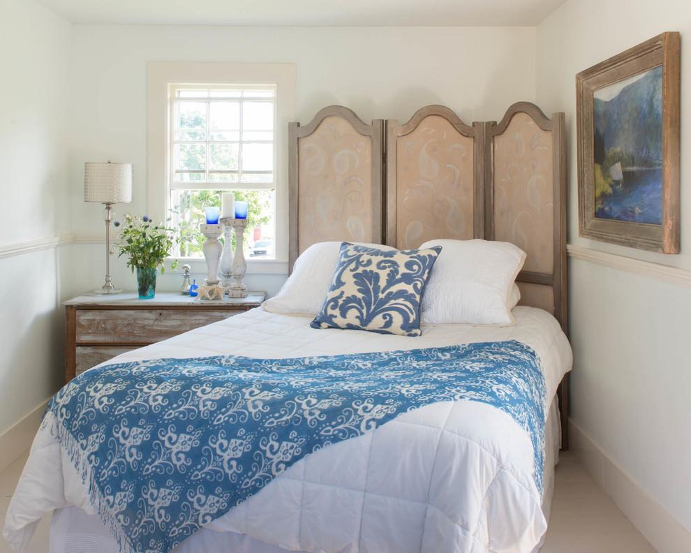 Bedroom - small shabby-chic style bedroom idea in Boston