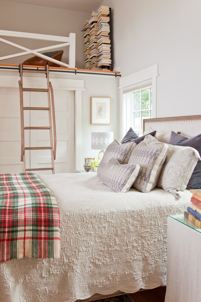 Transitional bedroom photo in Other