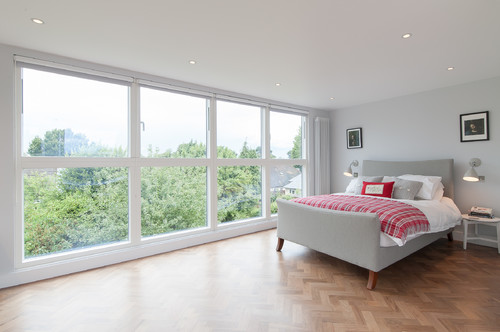 Big Windows Loft Conversion Bedroom