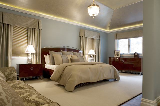 Hollywood Glam Traditional Bedroom New York By Dw