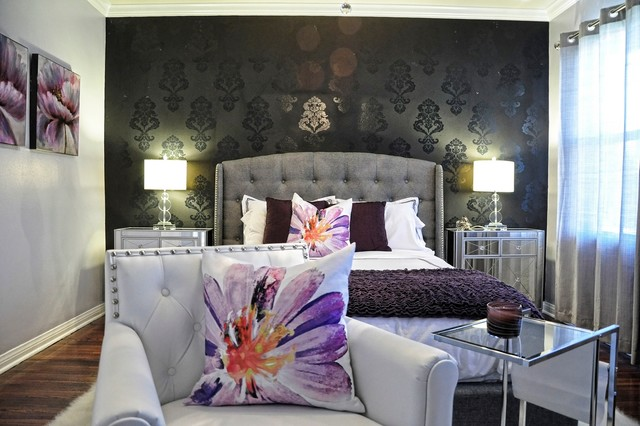 hollywood glam master bedroom bedroom los angeles by l2 interiors. Black Bedroom Furniture Sets. Home Design Ideas