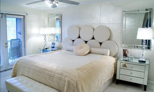Hollywood Glam Modern Bedroom New York By Ursallie Smith Houzz Ie