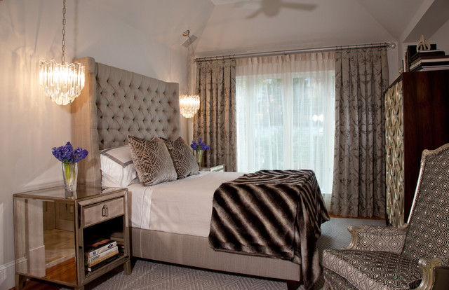 hollywood glamour traditional bedroom atlanta by edward holifield by design llc. Black Bedroom Furniture Sets. Home Design Ideas