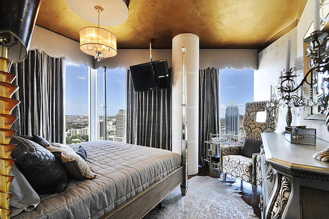 Hollywood Highrise eclectic bedroom