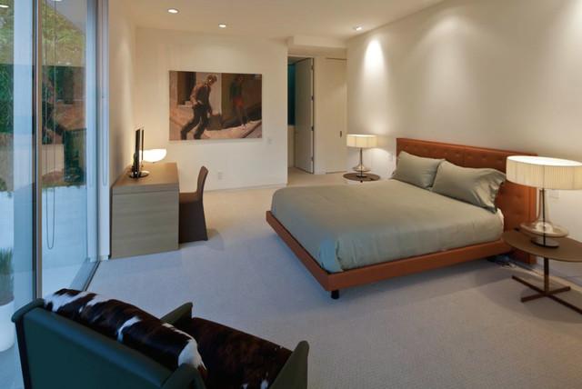 Modern Guest Room : Hollywood hills guest bedroom - Modern - Bedroom - los angeles - by ...