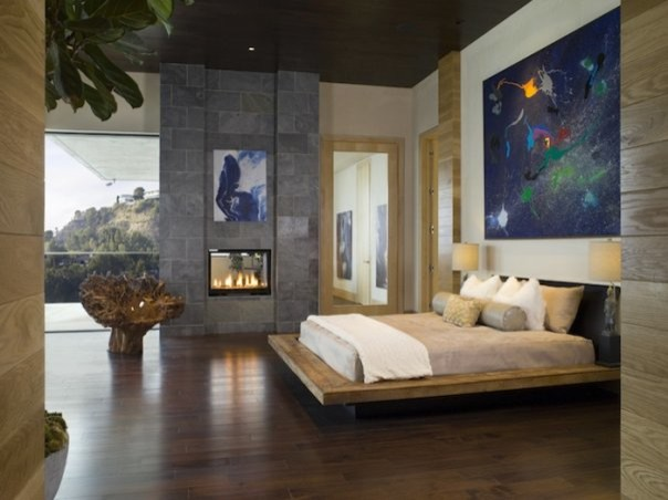 Hollywood Hills contemporary-bedroom