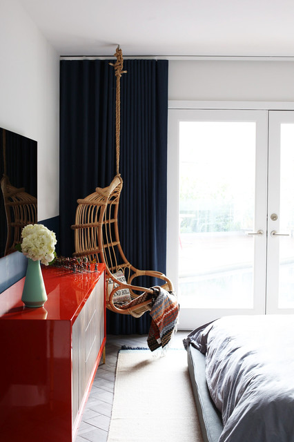 Hollywood Hills Retreat midcentury-bedroom