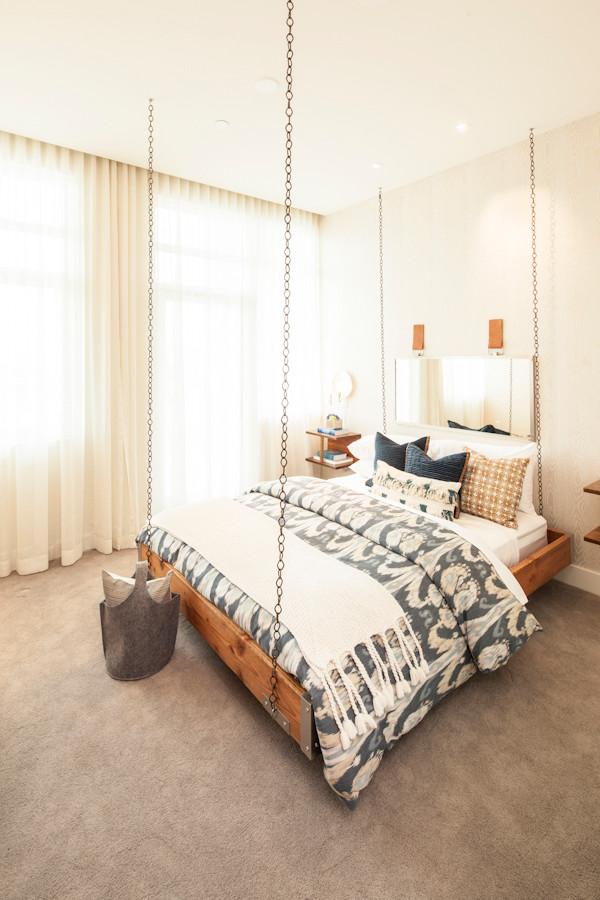Trendy bedroom photo in Los Angeles