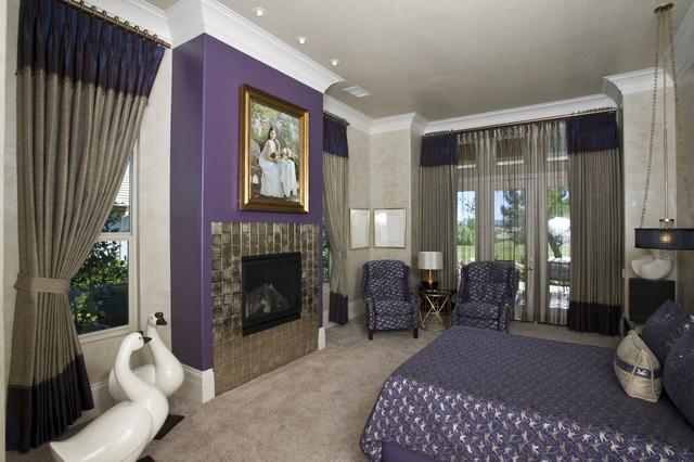 Hollywood Regency Master Bedoom Contemporary Bedroom