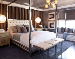 Hollywood Residence transitional bedroom