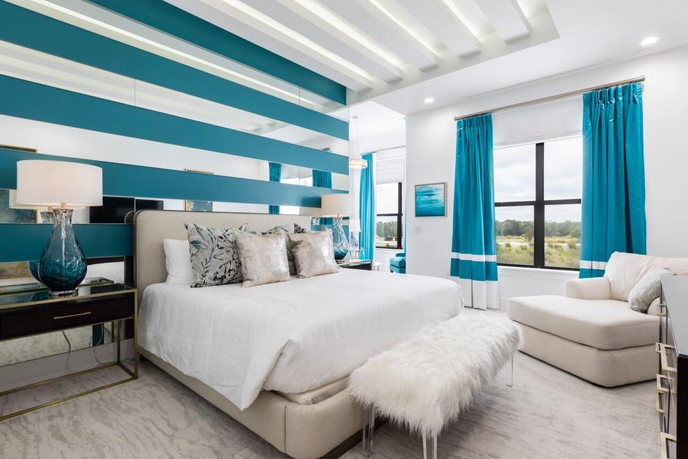 Example of a trendy bedroom design in Orlando