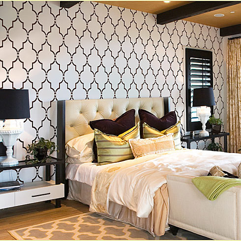 Good Home Decor Wall Stencils Modern Bedroom