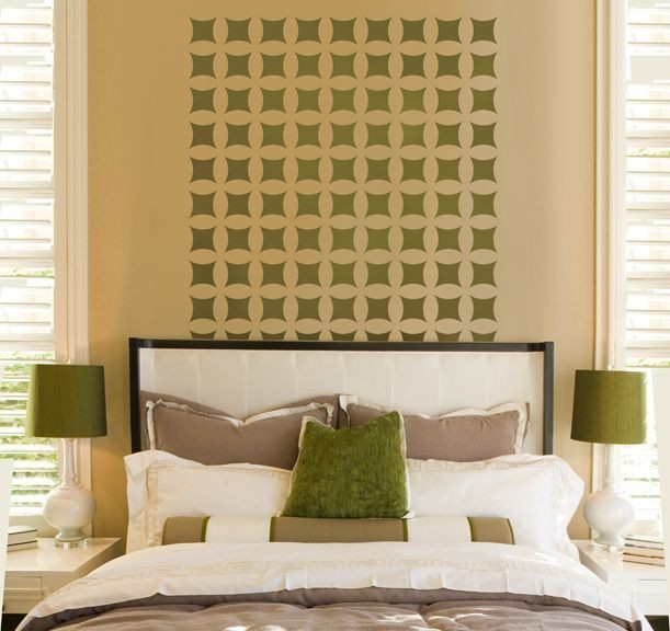 Master bedroom wall paint designs - Home Decor Wall Stencils Contemporary Bedroom New