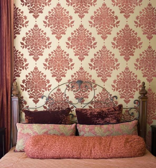 Superbe Home Decor Wall Stencils Contemporary Bedroom