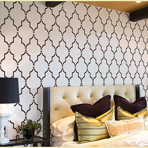 Home Decor Wall Stencils Modern Bedroom New York