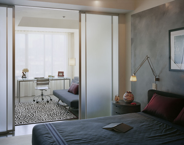office bedroom design. simple office modern bedroom idea in boston with gray walls with office bedroom design