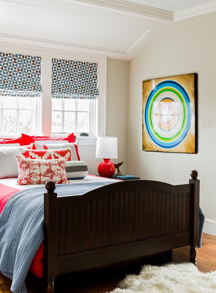 Inspiration for a coastal bedroom remodel in Boston