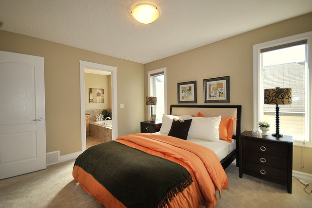 staging a bedroom. Home Staging in Vacant Properties for Sale Edmonton  AB modern bedroom Modern