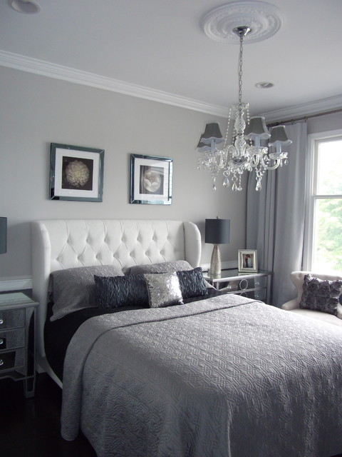 Ideal Modern Bedroom Home Staging New jersey Home Stager Grey Silver Real Estate