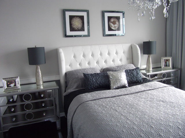 Modern Bedroom Gray home staging new jersey, home stager, grey, silver, real estate