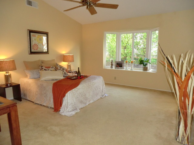 Home Staging project at the Country Club in Danville traditional-bedroom