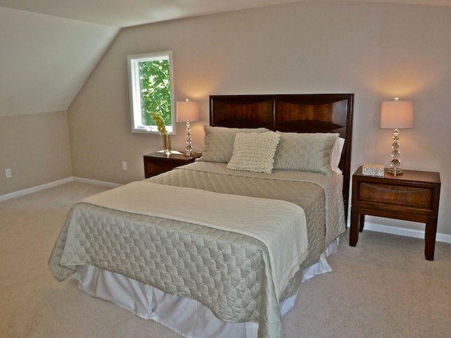 Home staging wayne nj master bedroom midcentury bedroom new york by great impressions Master bedroom home staging