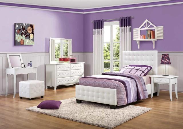 Charming Homelegance Sparkle Upholstered Bedroom Set Contemporary Bedroom