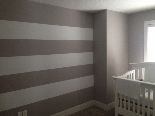 Horizontal Stripes modern-bedroom