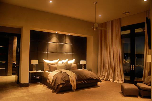 Horseshoe Bay Lakehouse Master contemporary-bedroom