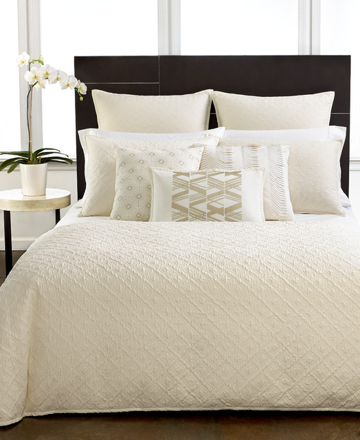 Hotel Collection Bedding Stitched Diamond Collection Contemporary Bedroom Other Metro